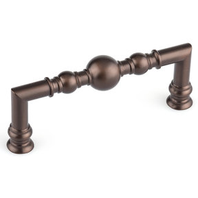"Traditional Pull, 3-3/4"" Center-to-Center, Honey Bronze"
