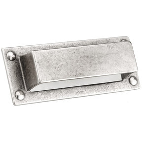 """Traditional Pull, 3-3/4"""" Center-to-Center, Newcastle Antique Polished Nickel"""