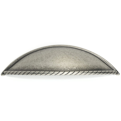 """View a Larger Image of Traditional Pull, 3-3/4"""" Center-to-Center, Pewter"""