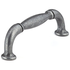 """Traditional Pull, 3-3/4"""" Center-to-Center, Wrought Iron"""