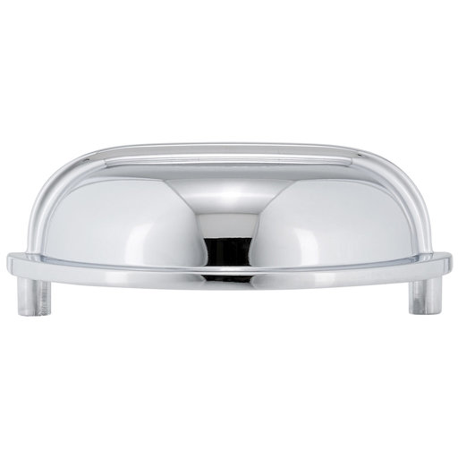 """View a Larger Image of Traditional Pull, 3"""" Center-to-Center, Chrome"""
