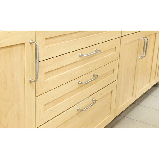 """View a Larger Image of Traditional Pull, 5-1/16"""" Center-to-Center, Brushed Nickel"""
