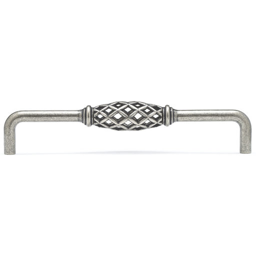 """View a Larger Image of Traditional Pull, 6-5/16"""" Center-to-Center, Natural Iron"""