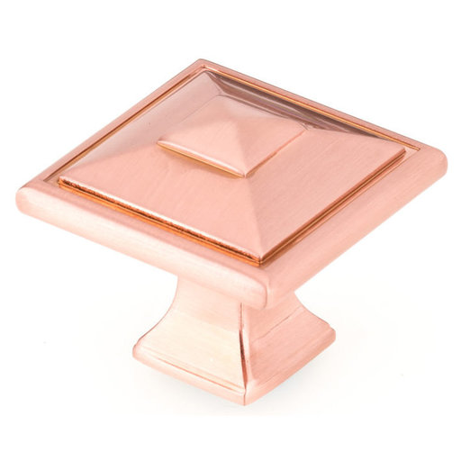 """View a Larger Image of Transitional Knob, 1-1/2"""" x 1-1/2"""", Rose Gold"""
