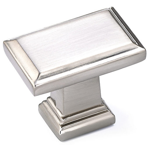 """View a Larger Image of Transitional Knob, 1-1/2"""" x 15/16"""", Brushed Nickel"""