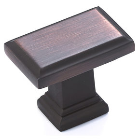 """Transitional Knob, 1-1/2"""" x 15/16"""", Brushed Oil-Rubbed Bronze"""