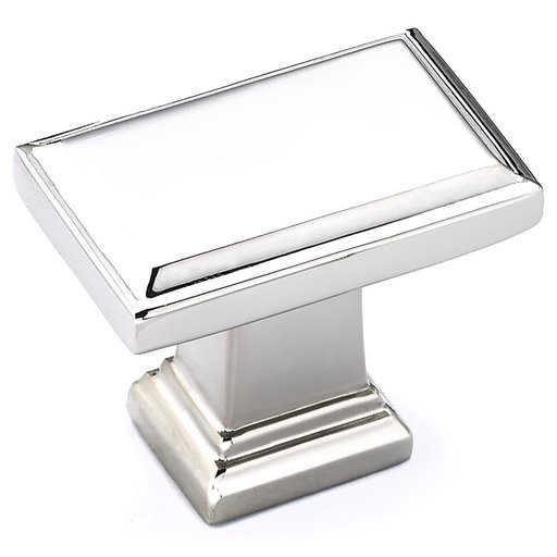 """View a Larger Image of Transitional Knob, 1-1/2"""" x 15/16"""", Polished Nickel"""
