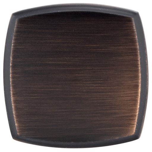"""View a Larger Image of Transitional Knob, 1-1/4"""" x 1-1/4"""", Brushed Oil-Rubbed Bronze"""