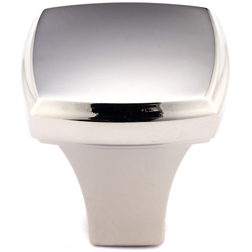 """View a Larger Image of Transitional Knob, 1-1/4"""" x 1-1/4"""", Polished Nickel"""