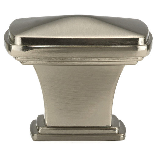 """View a Larger Image of Transitional Knob, 1-11/16"""" x 1-11/16"""", Brushed Nickel"""