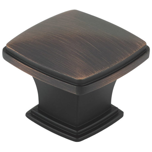 """View a Larger Image of Transitional Knob, 1-11/16"""" x 1-11/16"""", Brushed Oil-Rubbed Bronze"""