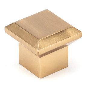 "Transitional Knob, 1-11/32"" x 1-11/32"", Aurum Brushed Gold"