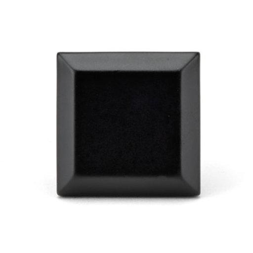 "View a Larger Image of Transitional Knob, 1-11/32"" x 1-11/32"", Matte Black"