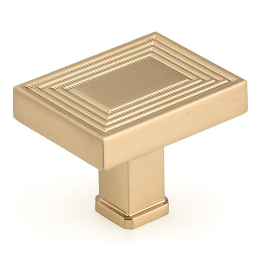 """View a Larger Image of Transitional Knob, 1-25/32"""" x 1-3/8"""", Champagne Bronze"""