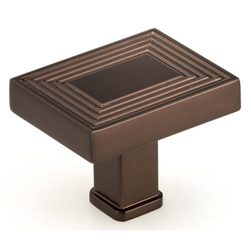 """View a Larger Image of Transitional Knob, 1-25/32"""" x 1-3/8"""", Honey Bronze"""