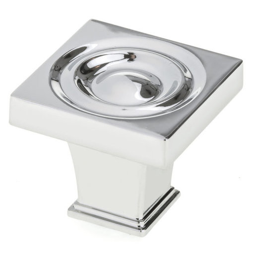 """View a Larger Image of Transitional Knob, 1-3/16"""" x 1-3/16"""", Chrome"""