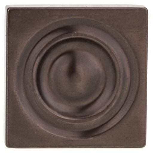 """View a Larger Image of Transitional Knob, 1-3/16"""" x 1-3/16"""", Honey Bronze"""