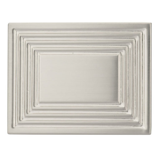 """View a Larger Image of Transitional Knob, 1-3/4"""" x 1-3/8"""", Brushed Nickel"""