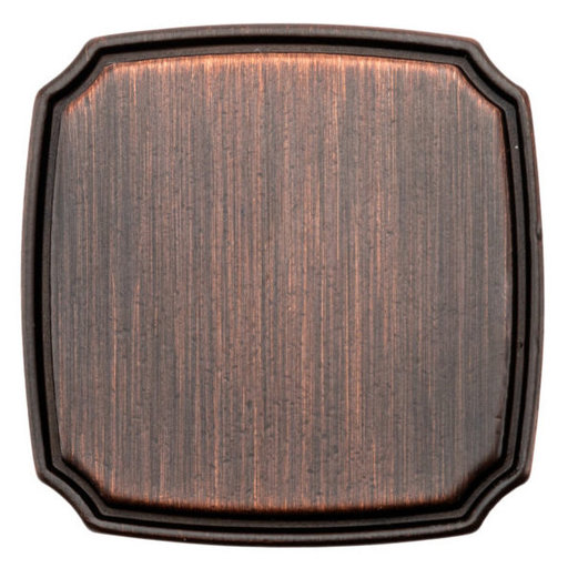 """View a Larger Image of Transitional Knob, 1-3/8"""" x 1-3/8"""", Brushed Oil-Rubbed Bronze"""