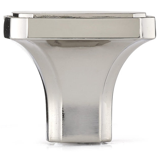 """View a Larger Image of Transitional Knob, 1-3/8"""" x 1-3/8"""", Polished Nickel"""
