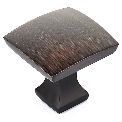 """View a Larger Image of Transitional Knob, 1-5/16"""" x 1-5/16"""", Brushed Oil-Rubbed Bronze"""