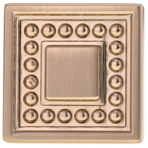 """View a Larger Image of Transitional Knob, 1-5/16"""" x 1-5/16"""", Champagne Bronze"""