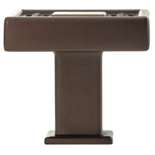 """View a Larger Image of Transitional Knob, 1-5/16"""" x 1-5/16"""", Honey Bronze"""