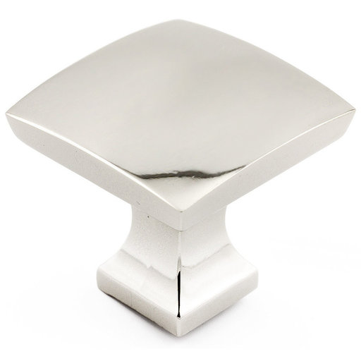 """View a Larger Image of Transitional Knob, 1-5/16"""" x 1-5/16"""", Polished Nickel"""