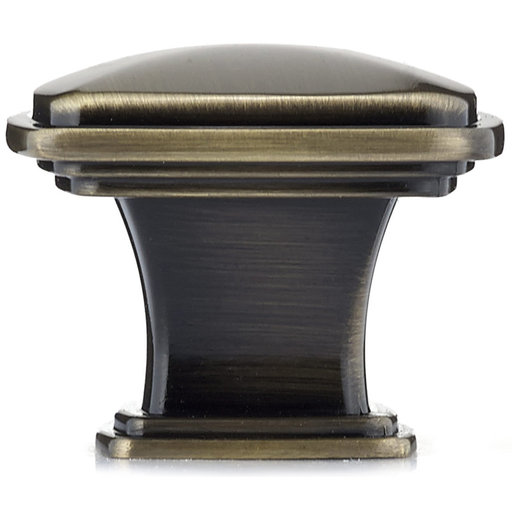 """View a Larger Image of Transitional Knob, 1-7/32"""" x 1-7/32"""", Antique English"""