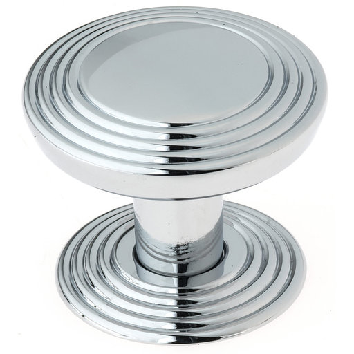 """View a Larger Image of Transitional Knob, 1-9/16"""" D, Chrome"""