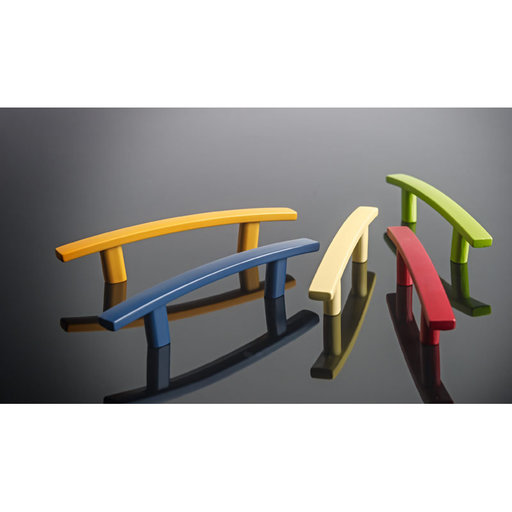 """View a Larger Image of Transitional Pull, 5-1/16"""" Center-to-Center, Matte Black"""