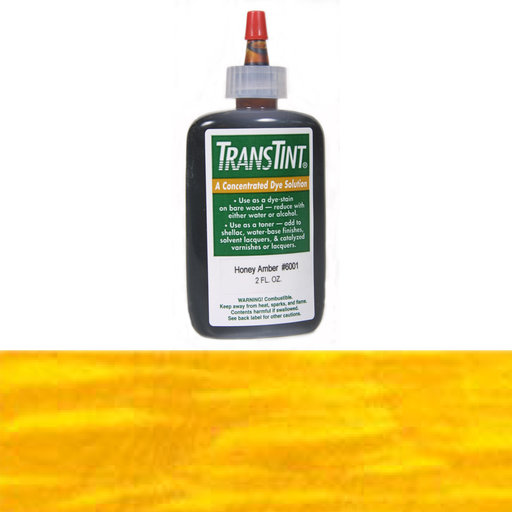 View a Larger Image of Amber Transtint Alcohol/Water Soluble Dye 2 oz