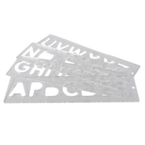 Template Set - LETTERS, Uppercase