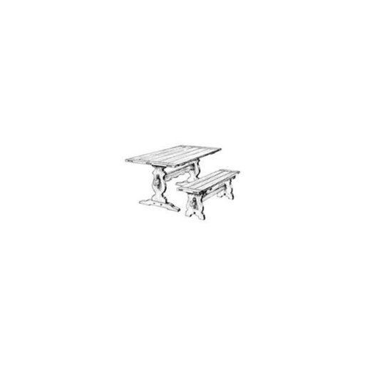 View a Larger Image of Trestle Dining Table And Bench Woodworking Plan
