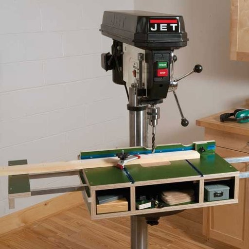 View a Larger Image of Tricked Out Drill Press Table - Downloadable Plan