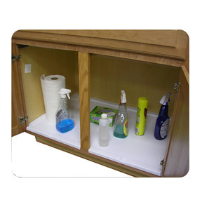 Trimmable Under Sink Tray for 33 in. Base Cabinet