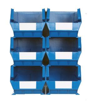 Blue 8 PC Wall Storage Unit - Extra Large