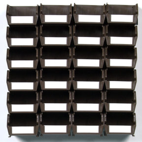 Brown 26 PC Wall Storage Unit - Small