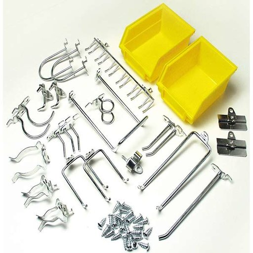 View a Larger Image of DuraHook 26 Pc Hook and Bin Assortment for Pegboard