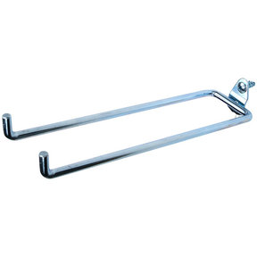 "DuraHook 8 1/4""Double Rod, 80 Degree Pegboard Hook, 5 Pack"