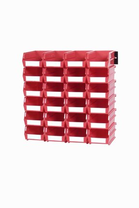 Red 26 PC Wall Storage Unit - Small