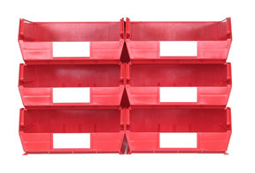 Red 8 PC Wall Storage Unit - Large
