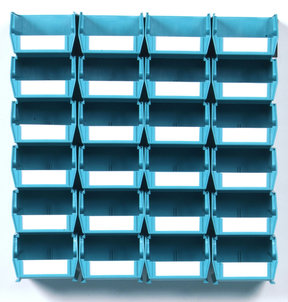 Teal 26 PC Wall Storage Unit - Small