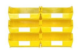 Yellow 8 PC Wall Storage Unit - Large