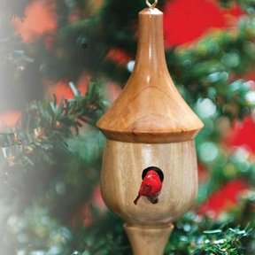 Turned Birdhouse Ornament - Downloadable Plan