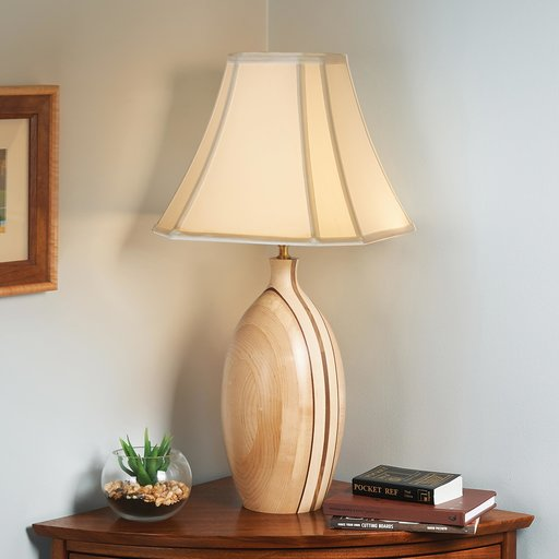 View a Larger Image of Turned Table Lamp Downloadable Plan