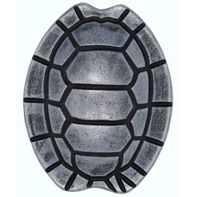 Turtle Shell Knob, Pewter Oxide