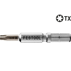 "TX10 x 2"" Torx Centrotec Driver Bit, 2 pieces"