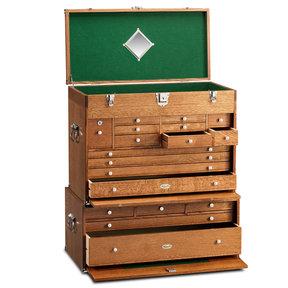 Ultimate USA Treasure Chest and Base Set in Quarter Sawn Golden Oak
