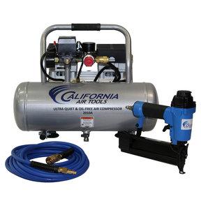 1HP 2 Gallon Oil-Free Aluminum Tank Air Compressor with Nail Gun Kit